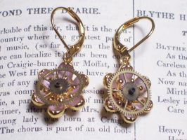 Brass Flower Earrings by LeviathanSteamworks