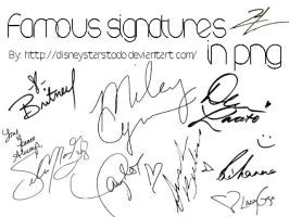 Famous signatures in png by Disneystarstodo