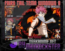Natsu Dragneel Theme Windows 8 by Danrockster