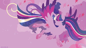 Rainbow Power Twilight Silhouette Wall by SambaNeko