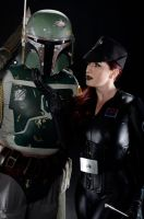 Star Wars: Boba Fett and Imperial Officer by Luxxurious
