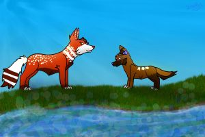Dogs of the Misty River by Schuffles