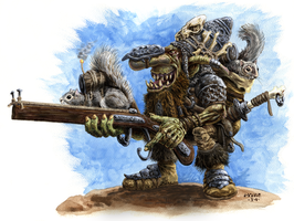 Goblin with Squirrel Launcher by vikingmyke
