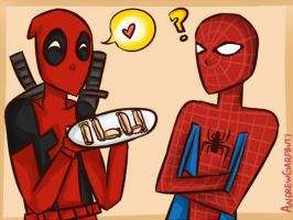 Spideypool by BlackD0ve