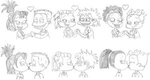 Rugrats Sketchdump of Love by nintendomaximus
