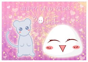 Kawaii Happy New Year 2011 by miemie-chan3