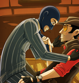Sniper x Spy by CrescentMarionette