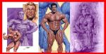 Bodybuilding illustrations: Lou Ferrigno, Yates by SteveStanleyArt