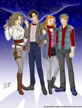 Doctor Who - 11 and friends by strawberrygina