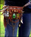 Hand Made Fantasy Belt Pack by Wood-Splitter-Lee