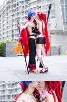 Kamina and Yoko kiss 1 by dani-foca