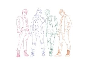 4 boy figure poses by Den28