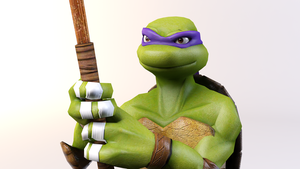 3DS Max - Donatello 2012 Wallpaper Render by SilverMoonCrystal