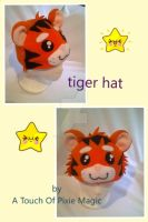 tiger hat by willowthepixie