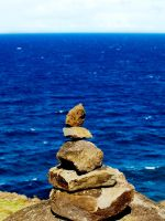 Hawaii Cairn by AquarianPhotography