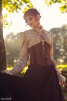 Steampunk Lady - Afternoon light by Thesan13
