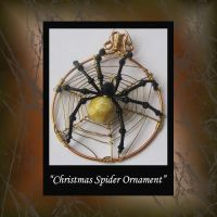 Christmas Spider Ornament by KabiDesigns