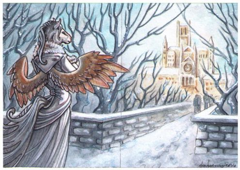 ACEO - Kingsgate Bridge by drachenmagier