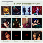 2014 Summary of Art by cosmogyral-delirium