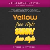 FREE Graphic Styles for Adobe Illustrator #14 by Love-Kay