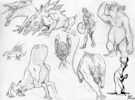 Monsters doodles by ritam