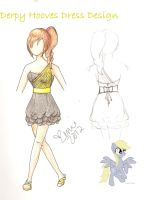 MLP Derpy Hooves Dress Design by XeMiChan576