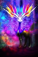 Xerneas by AngelBunnyXOXO