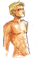 Luke Castellan Shirtless by Dreamsoffools