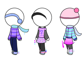 Adoptable Clothes|basic|winter by xKittyLover4892x