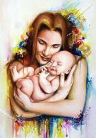 Commission '14: Mother and Child by ffdiaries958