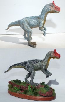Cryolophosaurus (2 of 4) by Lithographica