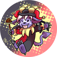 Commission - Jester Buwaro Button by raizy