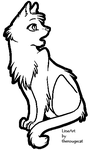 Basic female cat lineart by therougecat