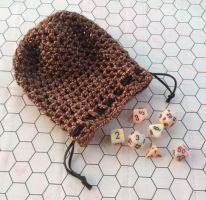 Bronze dice bag by silverfaction