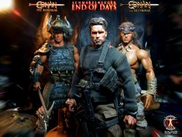 Arnold as Jericho in End of Days and Conan by CalvinsCustom