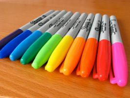 A Rainbow of Sharpies by spinkysock
