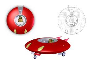 The little Red Spaceship by Doomsday-Device