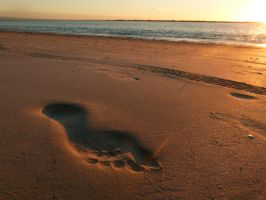 Footprint at Sunset by frayzoid
