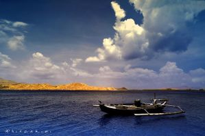 a lone boat by hirza