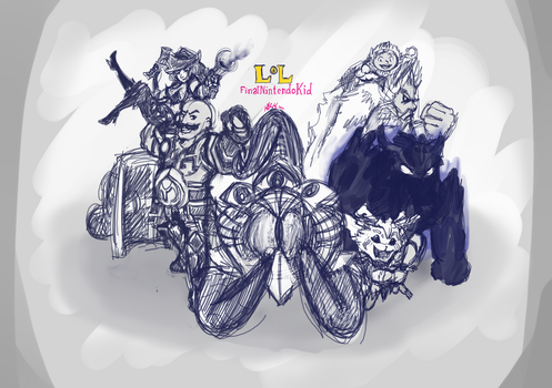My top played champions (my own drawing) by manngco