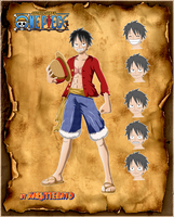 coloring luffy angry - new world by Naruttebayo67