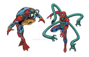 Scuba and Octo Spidey by Shugga