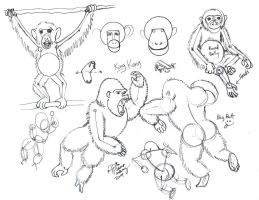 Draw Chimps and Gorillas by Diana-Huang