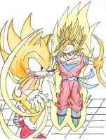 Request Sonic Vs Goku by JetStriker96