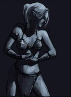 Drow Sketch 5 by zacharyknoles