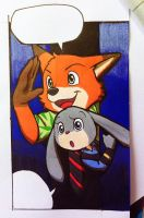 Zootopia - Nick and Judy by doraemonbasil