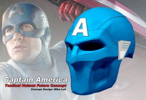 Captain America Tactical Helm by Uratz-Studios