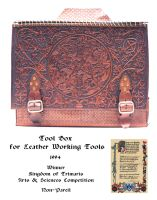 tooled Leather tool box by Bonecarverpm