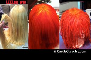 Leeloo Wig by CastleCorsetry