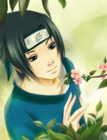 Sasuke__smile by leejun35